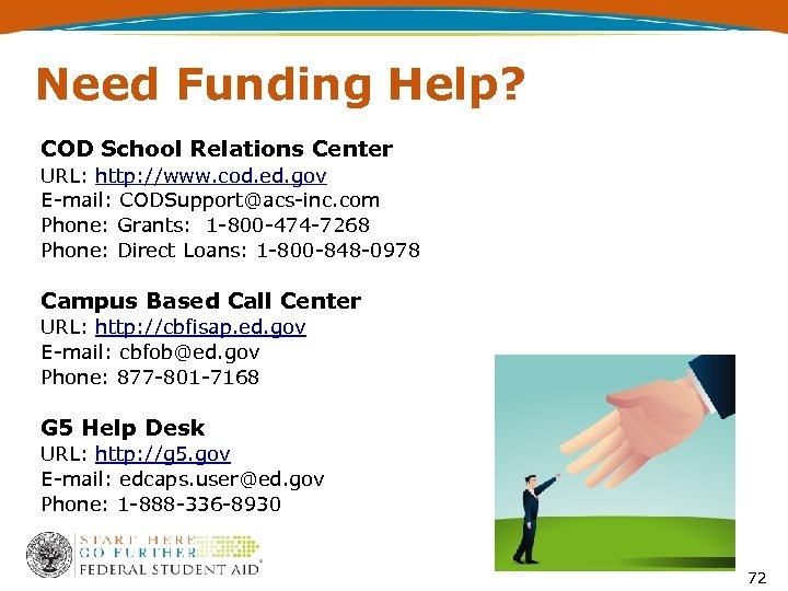 Need Funding Help? COD School Relations Center URL: http: //www. cod. ed. gov E-mail: