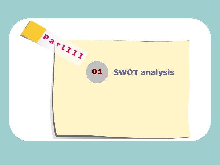 ' P ar t. I II 01_ SWOT analysis