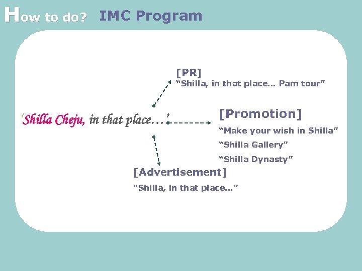 "How to do? IMC Program [PR] ""Shilla, in that place… Pam tour"" 'Shilla Cheju,"