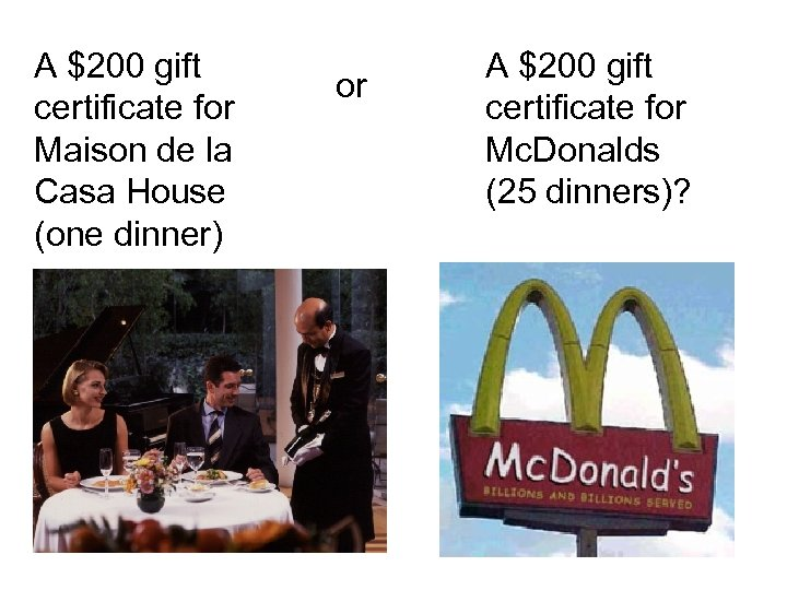 A $200 gift certificate for Maison de la Casa House (one dinner) or A
