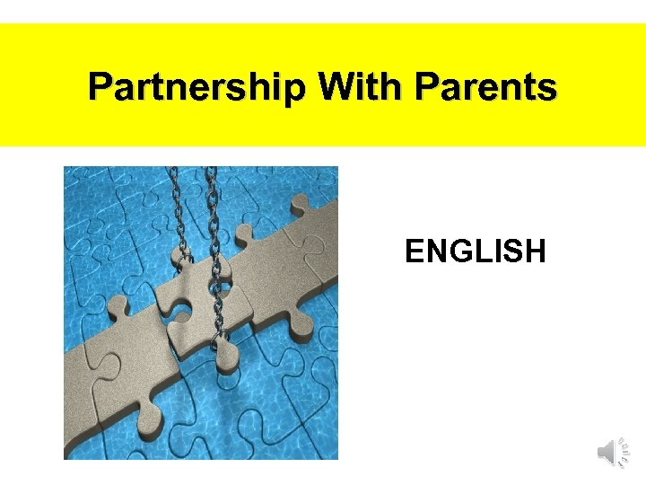 Partnership With Parents ENGLISH