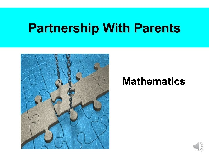 Partnership With Parents Mathematics