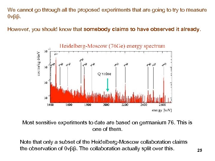 We cannot go through all the proposed experiments that are going to try to