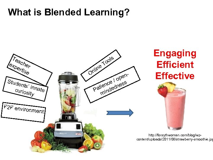 What is Blended Learning? Te a exp cher ert ise Stude nts' in nate