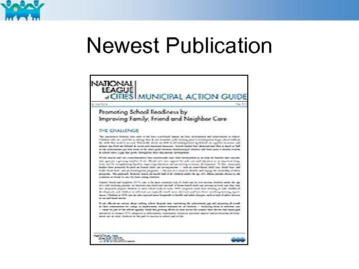 Newest Publication