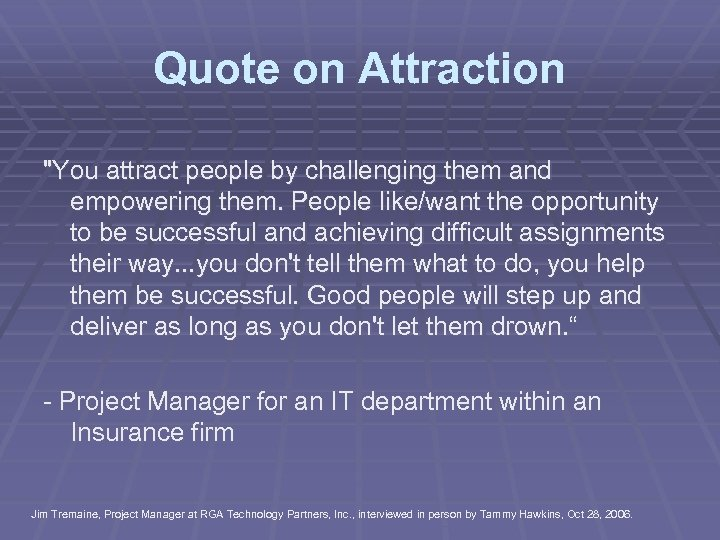 Quote on Attraction