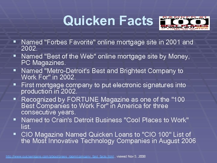 Quicken Facts § Named