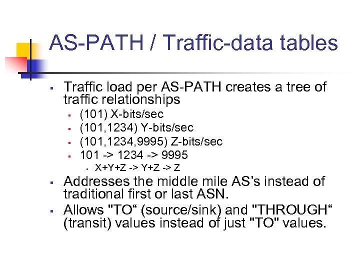 AS-PATH / Traffic-data tables § Traffic load per AS-PATH creates a tree of traffic