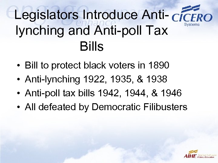 Legislators Introduce Antilynching and Anti-poll Tax Bills • • Bill to protect black voters