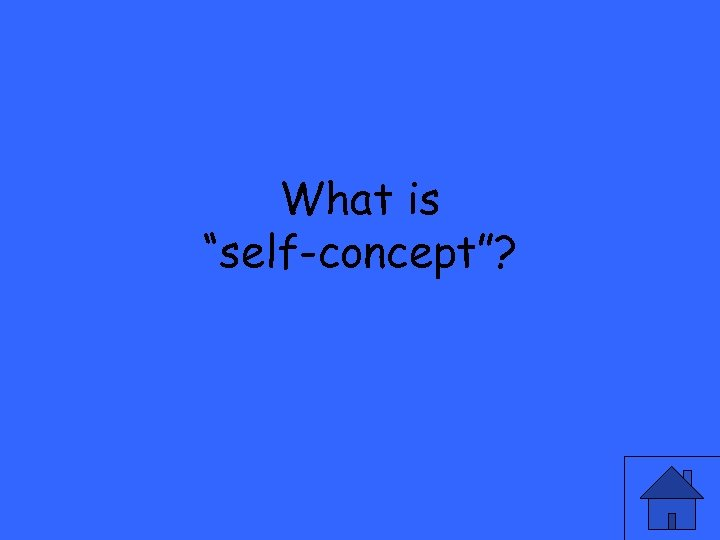 """What is """"self-concept""""?"""