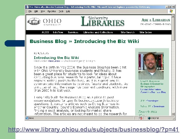 http: //www. library. ohiou. edu/subjects/businessblog/? p=41