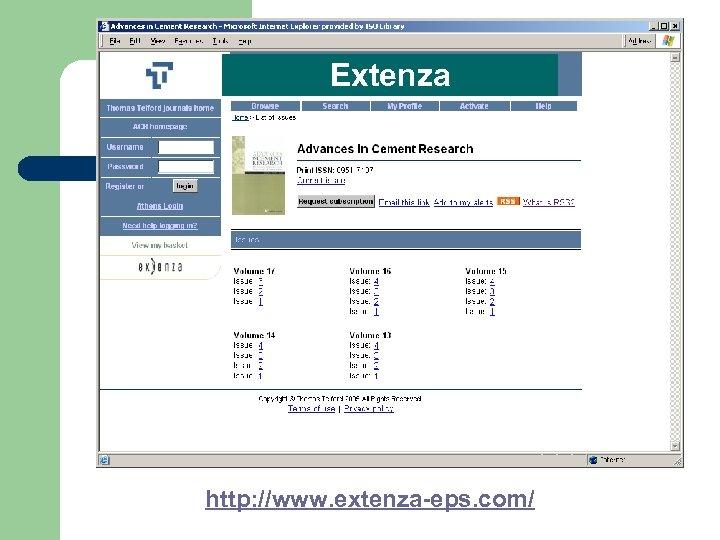 Extenza http: //www. extenza-eps. com/