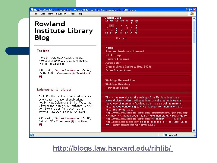 http: //blogs. law. harvard. edu/rihlib/