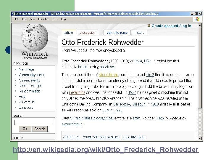 http: //en. wikipedia. org/wiki/Otto_Frederick_Rohwedder