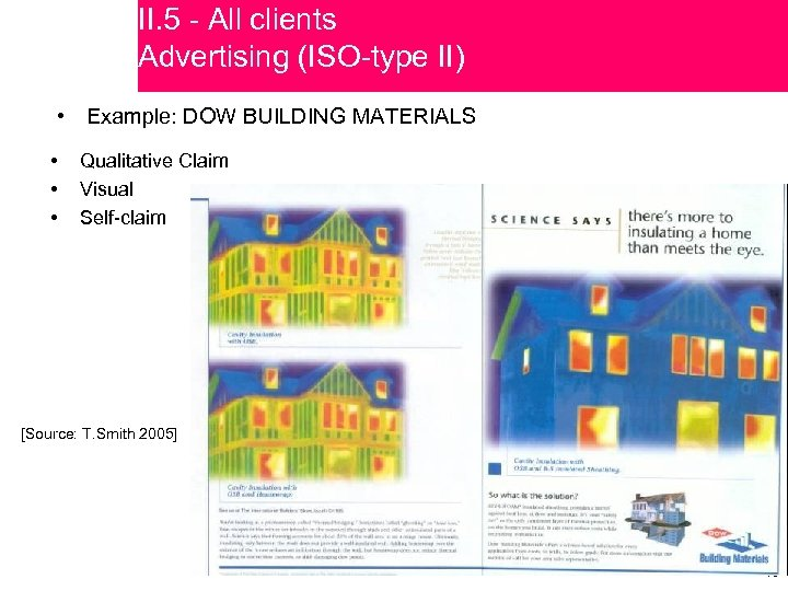 II. 5 - All clients Advertising (ISO-type II) • Example: DOW BUILDING MATERIALS •