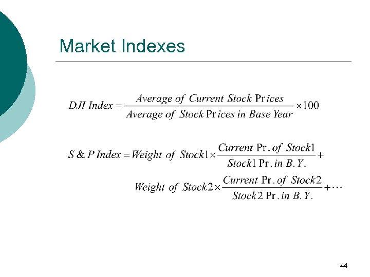 Market Indexes 44