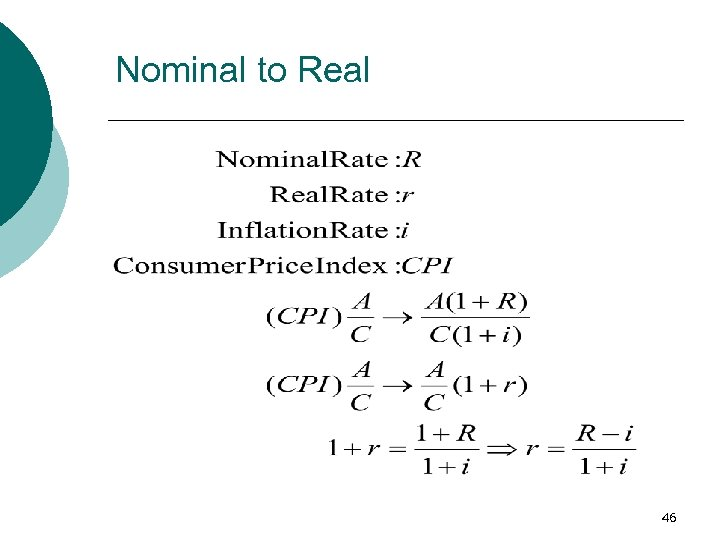 Nominal to Real 46