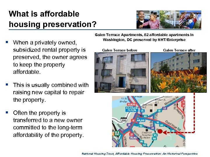 What is affordable housing preservation? Galen Terrace Apartments, 82 affordable apartments in Washington, DC
