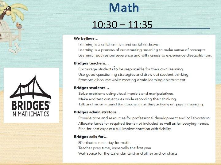 Math 10: 30 – 11: 35