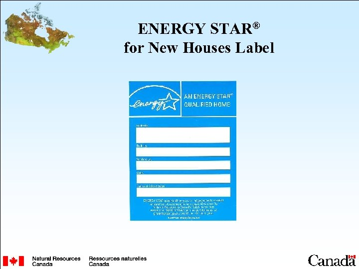 ENERGY STAR® for New Houses Label