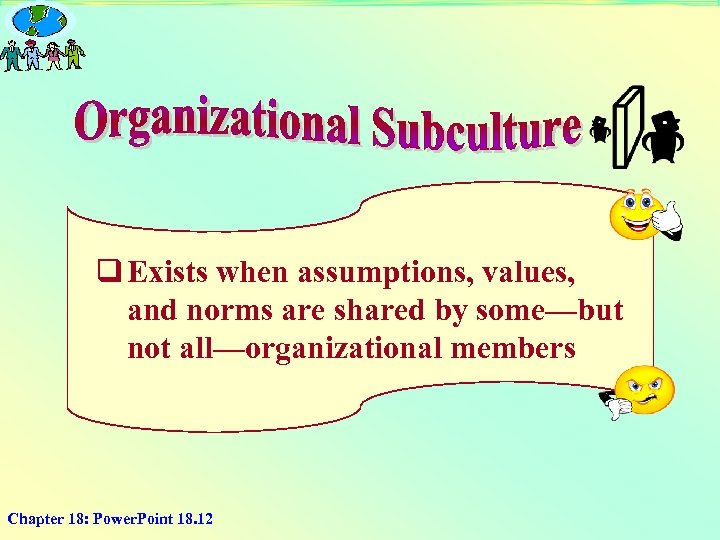 q Exists when assumptions, values, and norms are shared by some—but not all—organizational members
