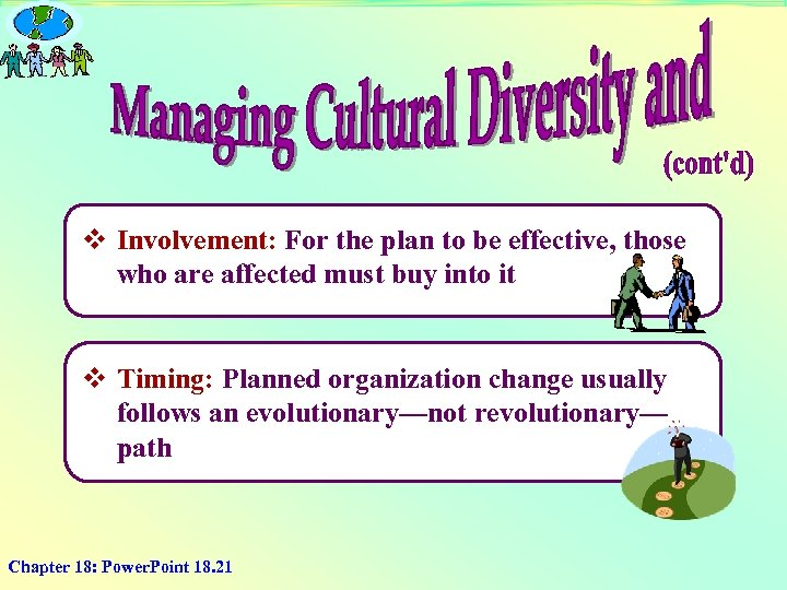 v Involvement: For the plan to be effective, those who are affected must buy