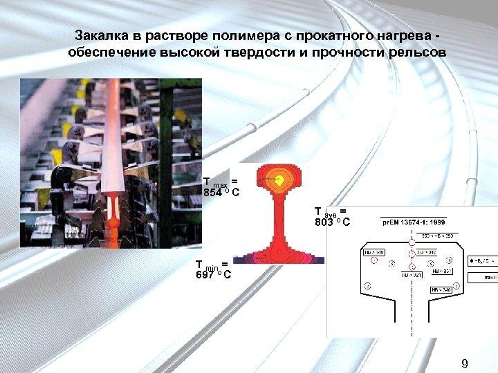 Закалка в растворе полимера с прокатного нагрева обеспечение высокой твердости и прочности рельсов T