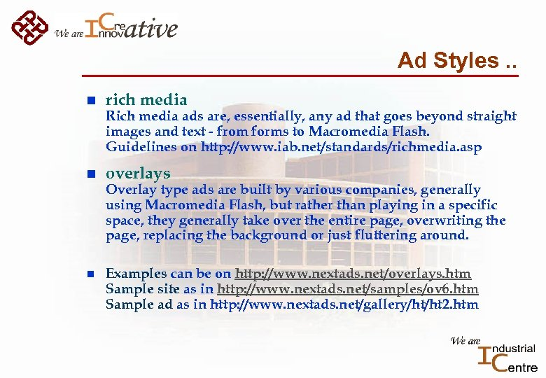 Ad Styles. . n rich media Rich media ads are, essentially, any ad that