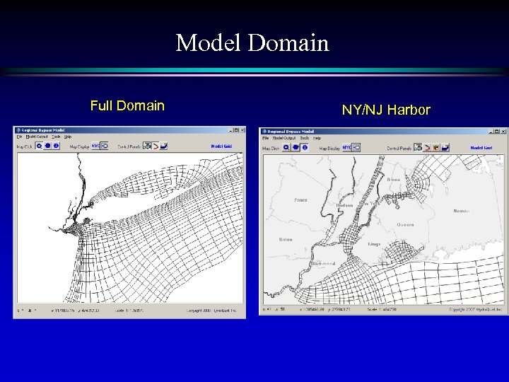 Model Domain Full Domain NY/NJ Harbor