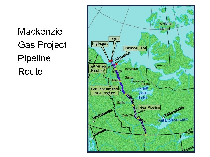 Mackenzie Gas Project Pipeline Route