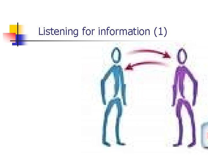 Listening for information (1)
