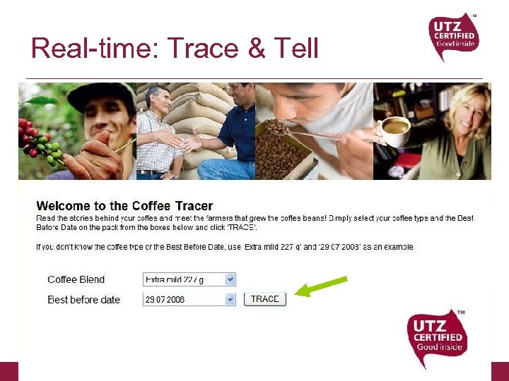 Real-time: Trace & Tell UTZ CERTIFIED Good Inside