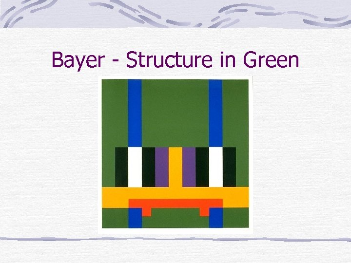 Bayer - Structure in Green