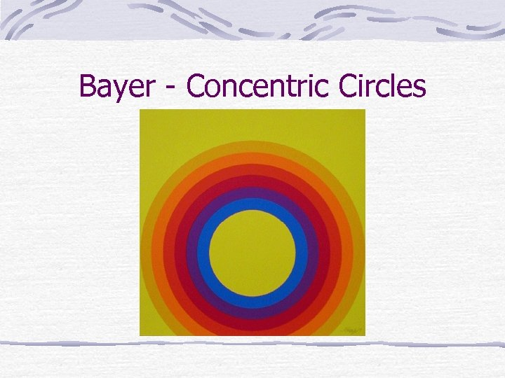 Bayer - Concentric Circles