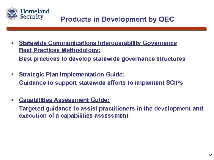 Products in Development by OEC § Statewide Communications Interoperability Governance Best Practices Methodology: Best