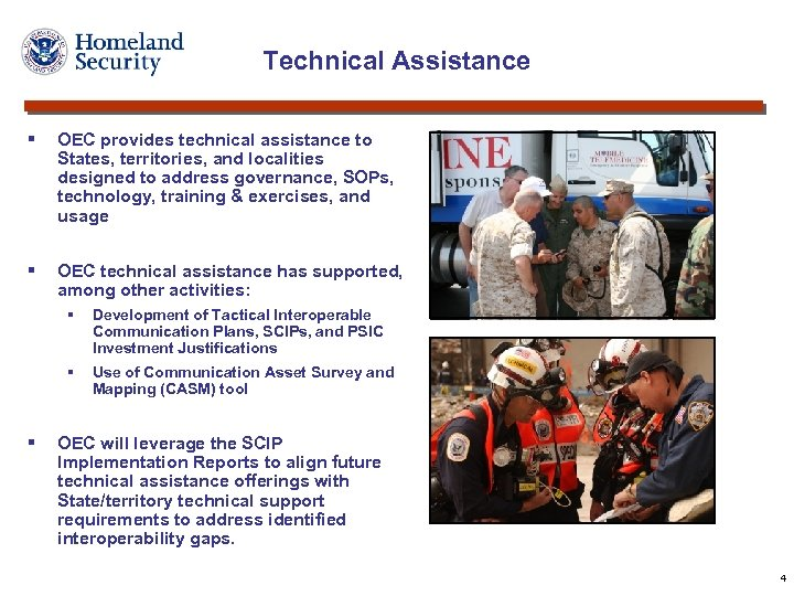 Technical Assistance § OEC provides technical assistance to States, territories, and localities designed to