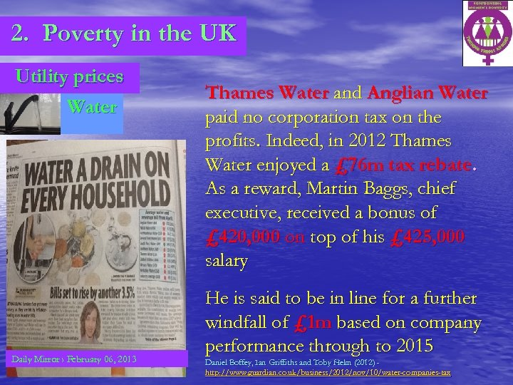 2. Poverty in the UK Utility prices Water Daily Mirror › February 06, 2013