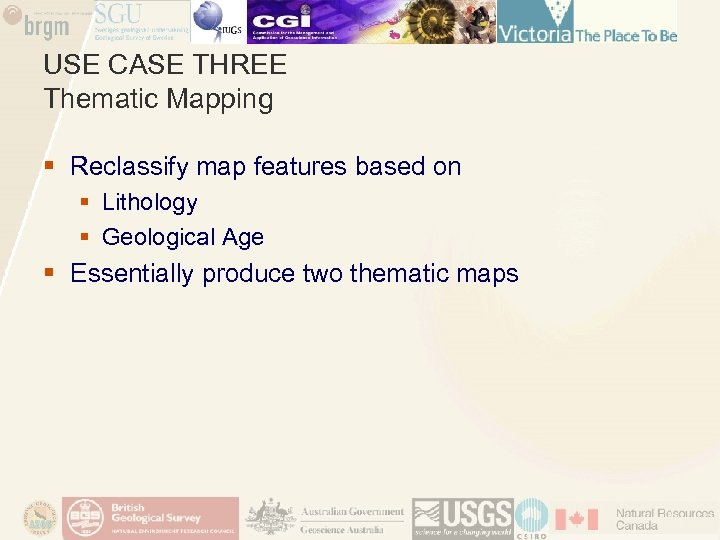 USE CASE THREE Thematic Mapping § Reclassify map features based on § Lithology §