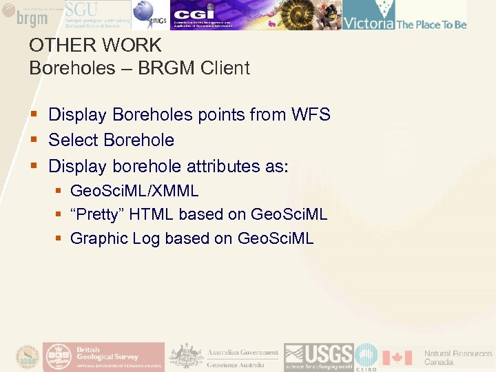 OTHER WORK Boreholes – BRGM Client § Display Boreholes points from WFS § Select