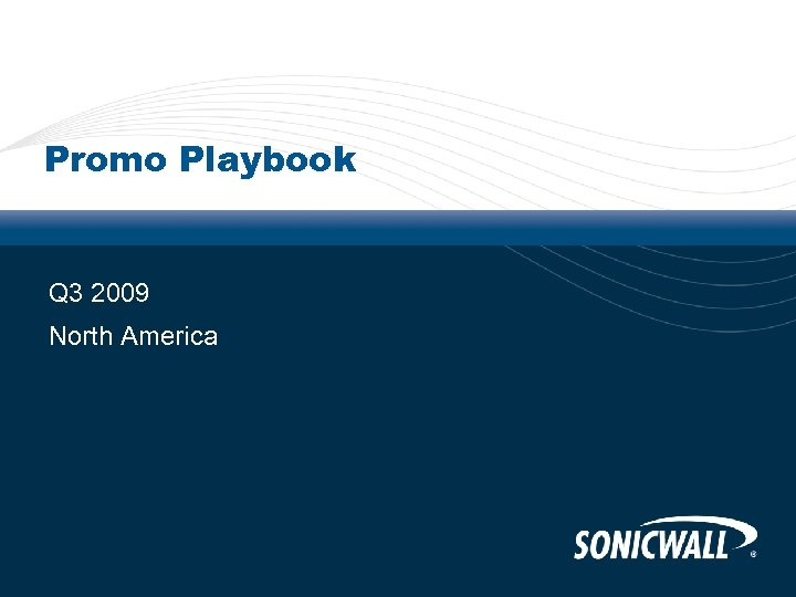 Promo Playbook Q 3 2009 North America