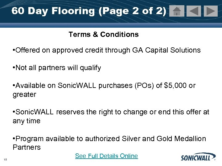 60 Day Flooring (Page 2 of 2) Terms & Conditions • Offered on approved