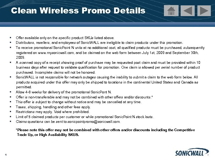 Clean Wireless Promo Details § § § Offer available only on the specific product