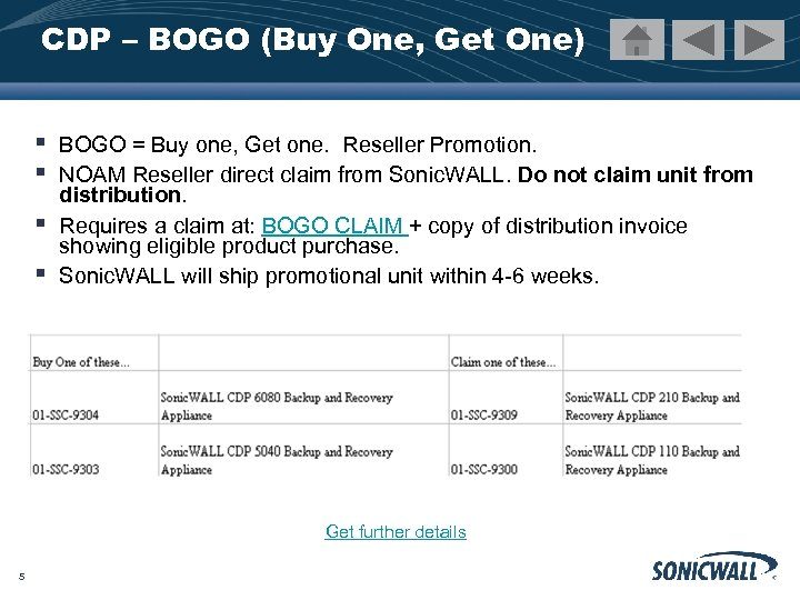 CDP – BOGO (Buy One, Get One) § § BOGO = Buy one, Get