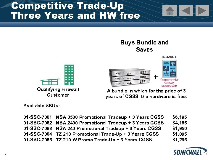 Competitive Trade-Up Three Years and HW free Buys Bundle and Saves + Qualifying Firewall