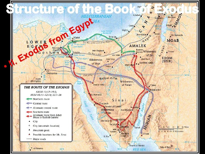 Structure of the Book of Exodus II. • us od Ex om fr pt