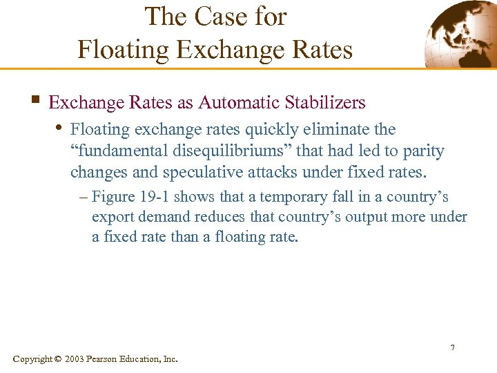 The Case for Floating Exchange Rates § Exchange Rates as Automatic Stabilizers • Floating