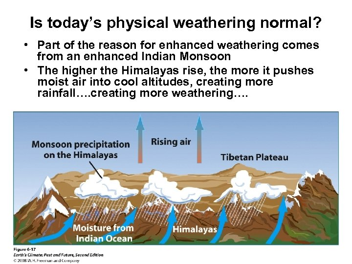 Is today's physical weathering normal? • Part of the reason for enhanced weathering comes