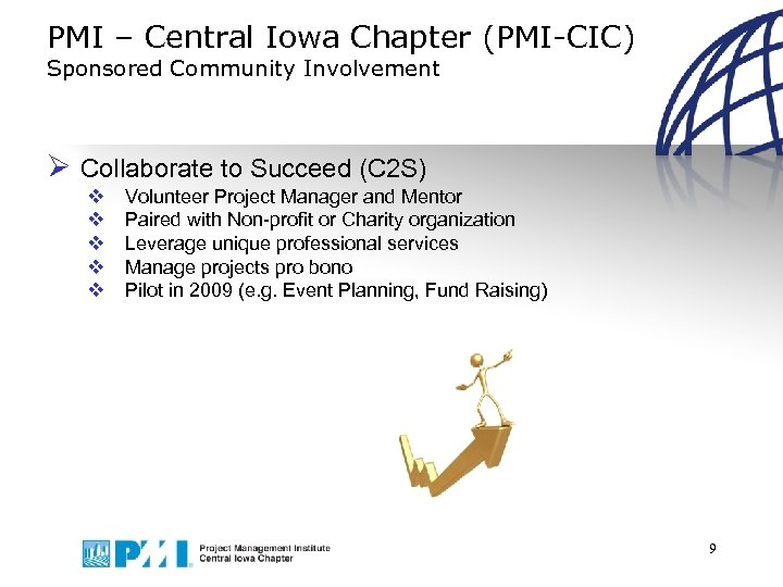 PMI – Central Iowa Chapter (PMI-CIC) Sponsored Community Involvement Ø Collaborate to Succeed (C