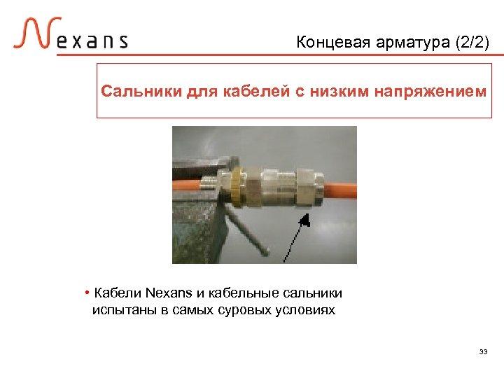 Концевая арматура (2/2) Сальники для кабелей с низким напряжением • Кабели Nexans и кабельные