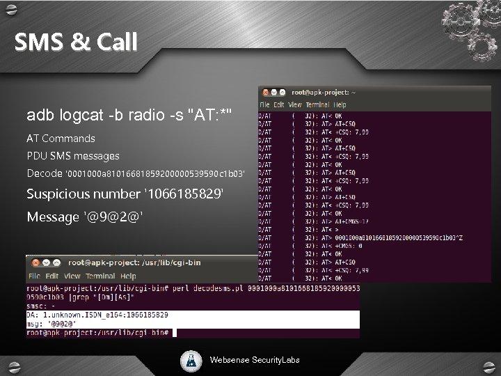 SMS & Call adb logcat -b radio -s